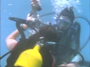 ...attacked by another diver!